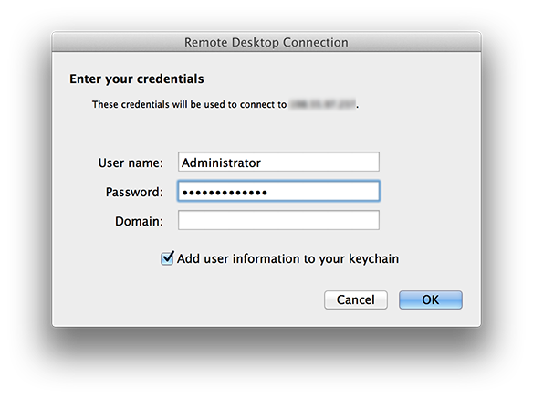 How to use Remote Desktop Connection (RDC) on Mac OS X