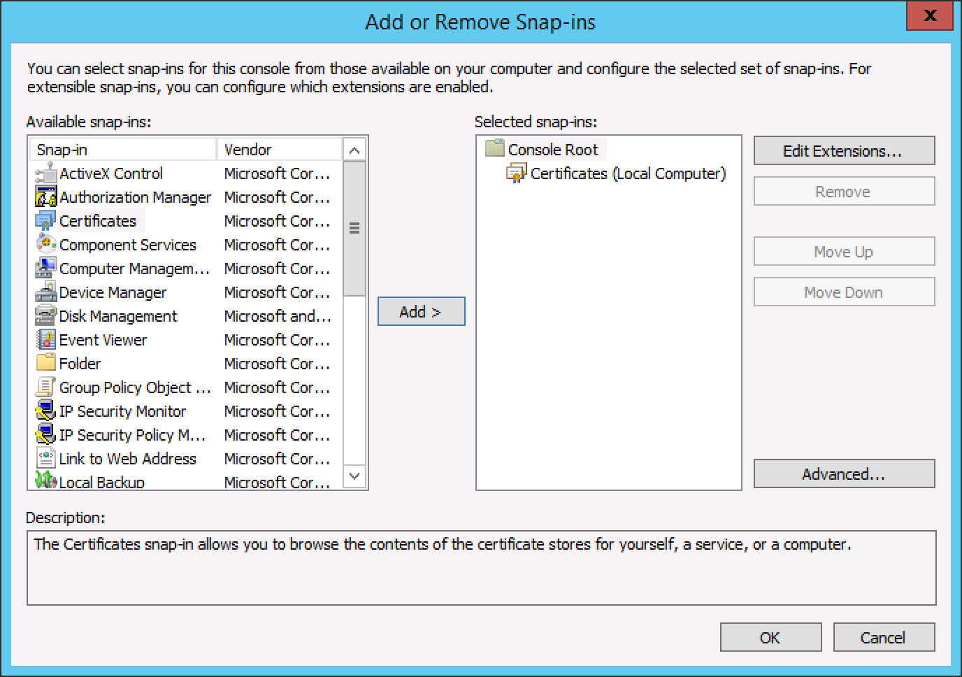 Generate a csr on windows server 2012 or 2008 for a ssl screen shot 2015 08 25 at 70329 pm xflitez Gallery