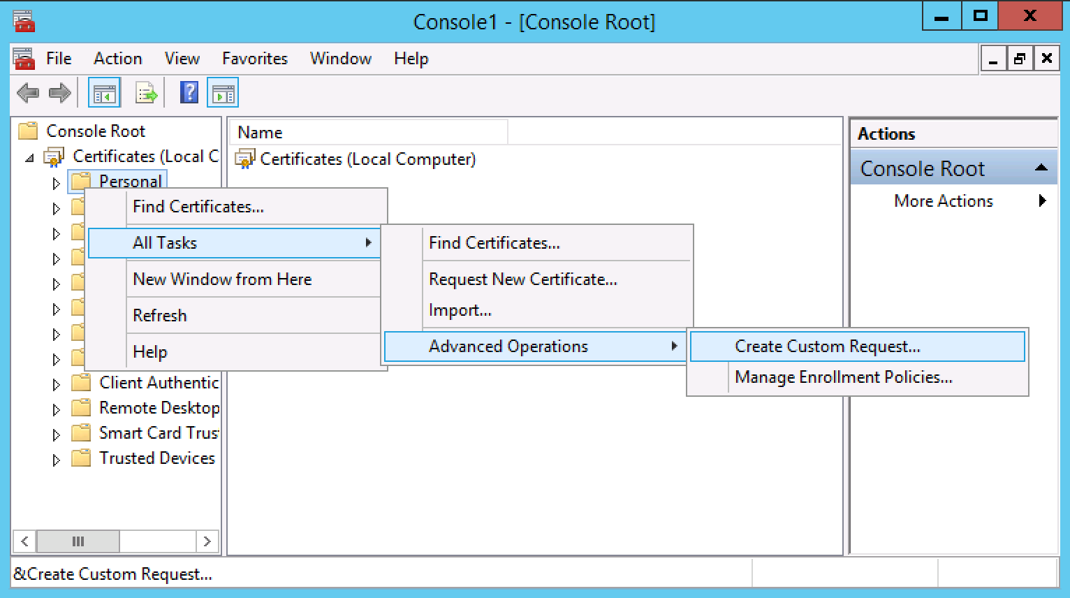 Generate a csr on windows server 2012 or 2008 for a ssl screen shot 2015 08 25 at 70407 pm xflitez Gallery