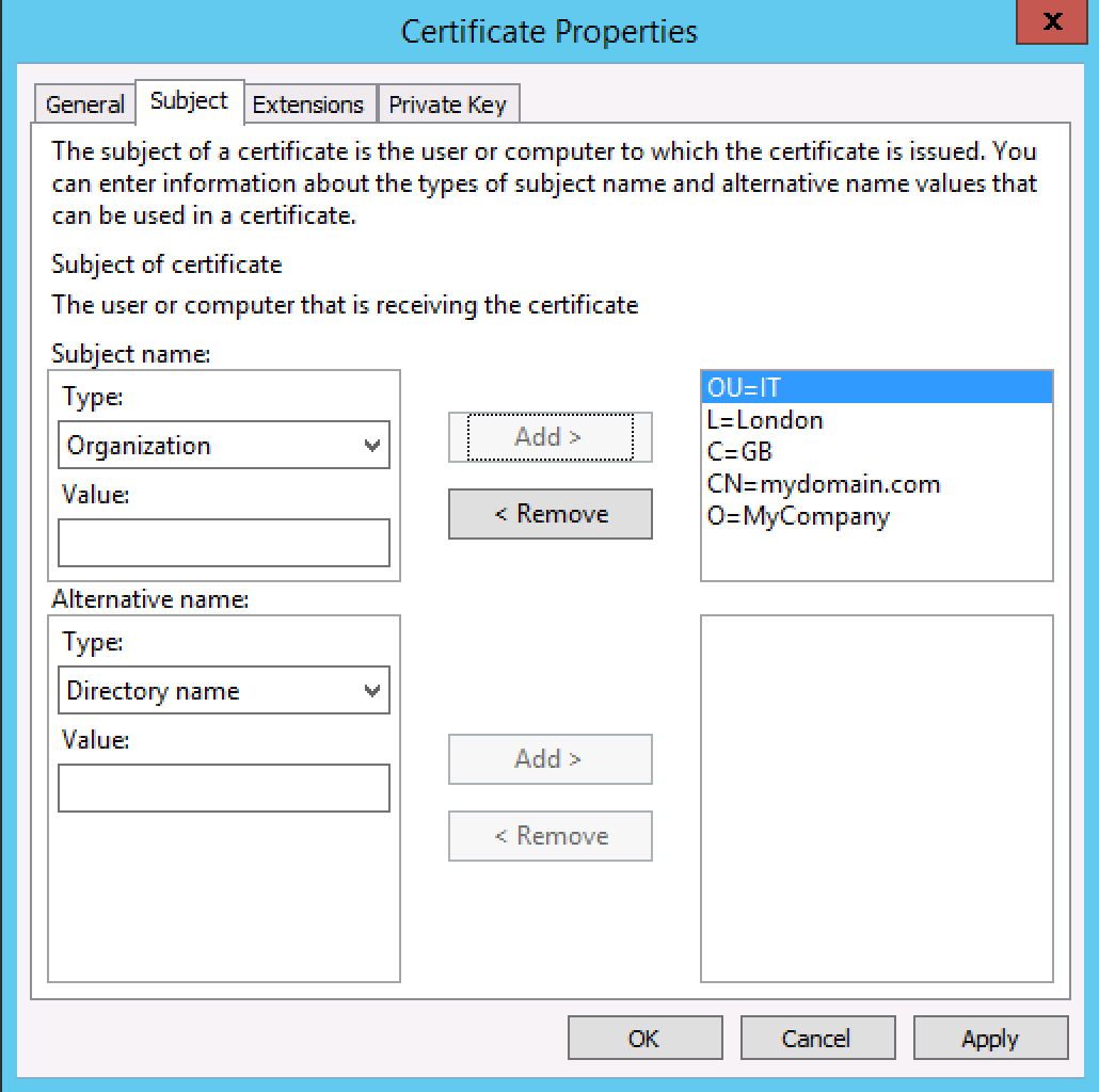 Generate a csr on windows server 2012 or 2008 for a ssl screen shot 2015 08 25 at 70841 pm xflitez Image collections