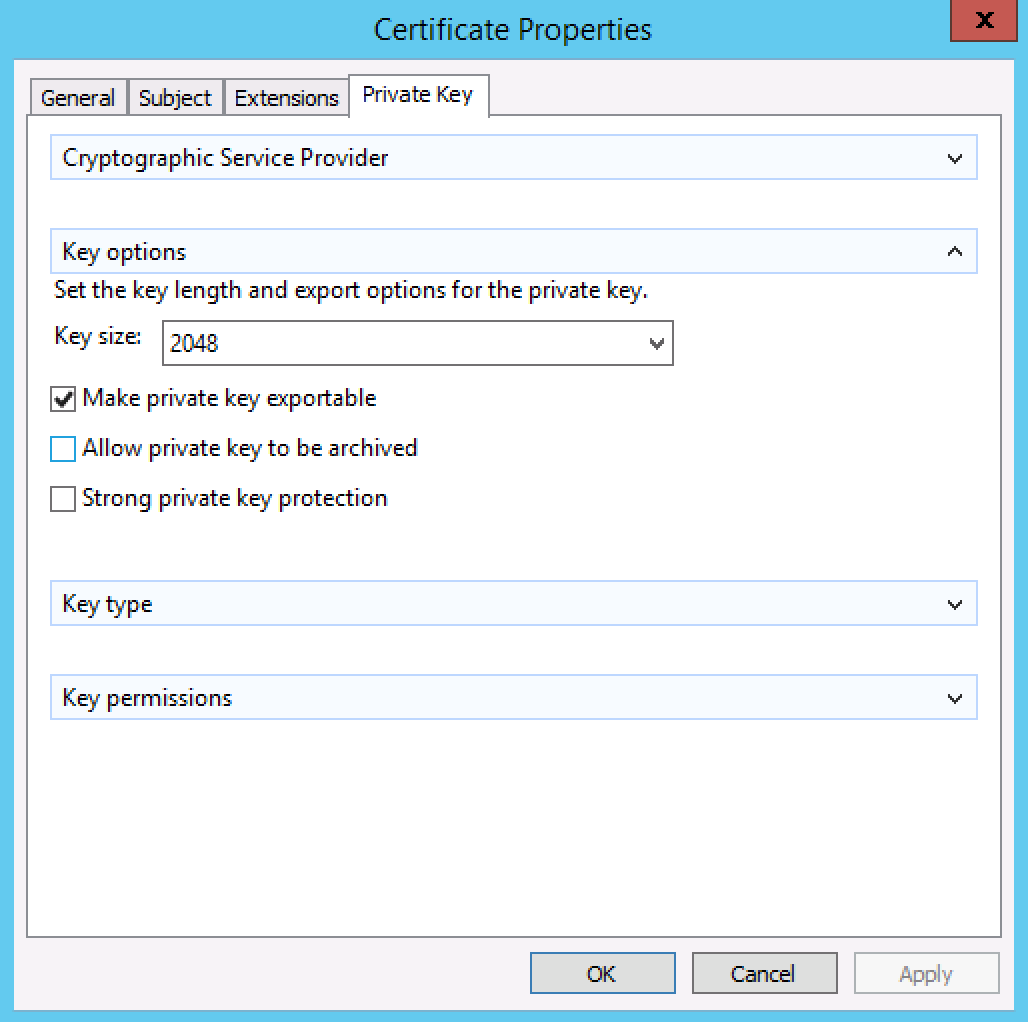 Generate a csr on windows server 2012 or 2008 for a ssl screen shot 2015 08 25 at 71033 pm xflitez Image collections