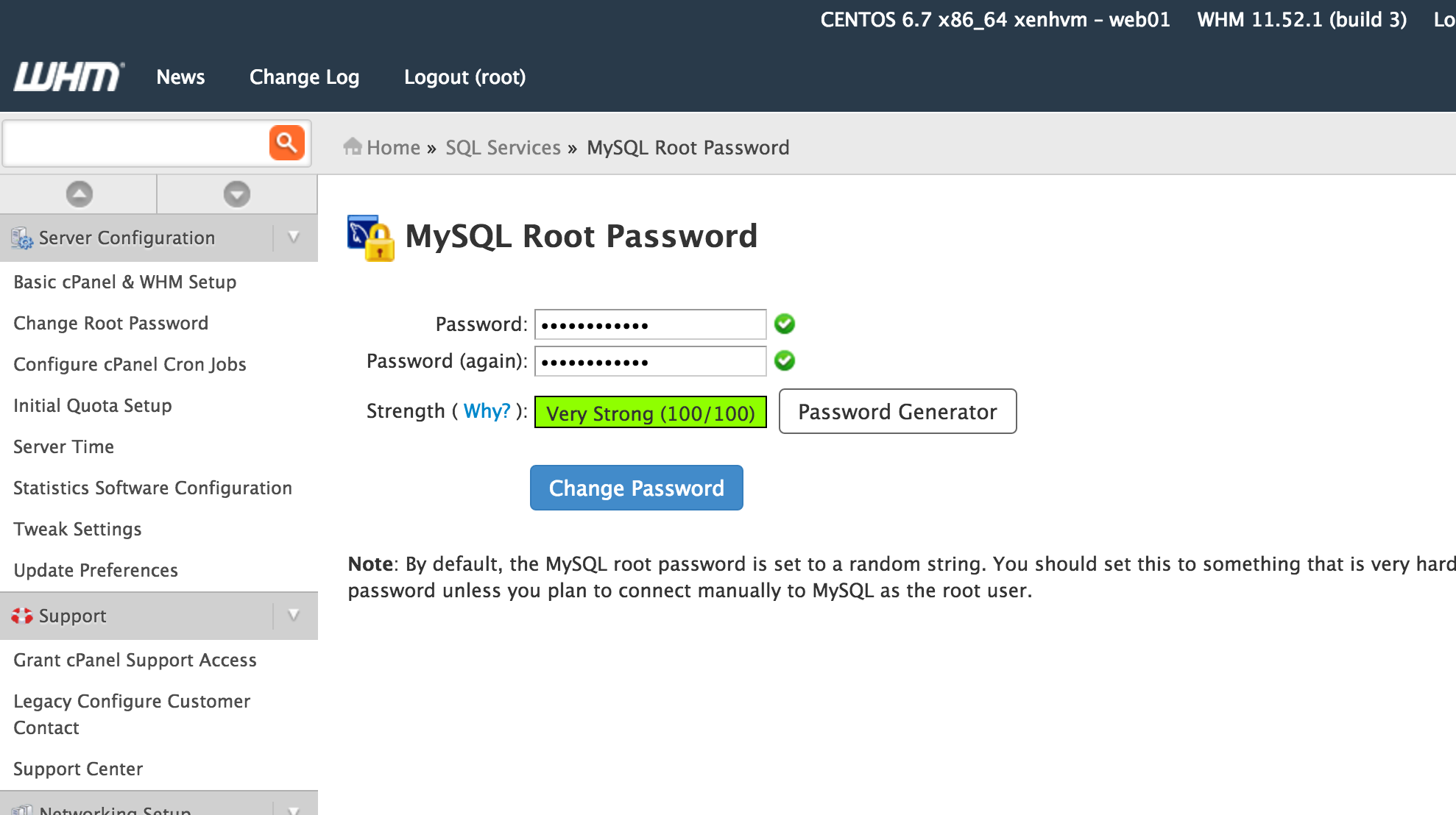 How to reset the root password in linux centos