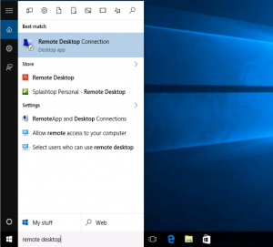 How to use RDP (Remote Desktop) on Windows 10 | SolVPS
